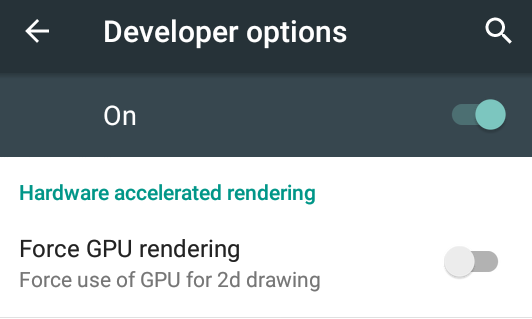 Android Force 2D GPU Rendering