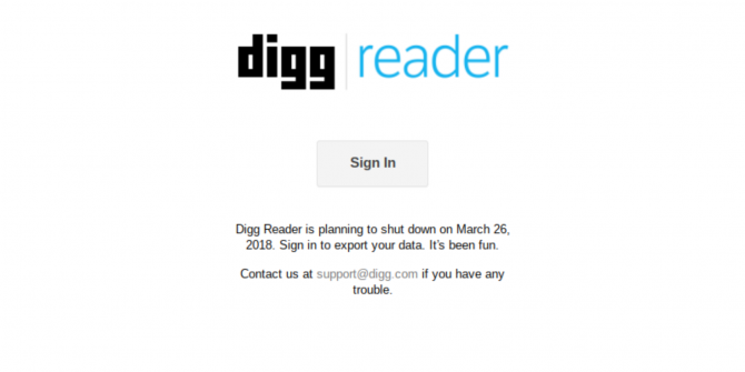 Digg Reader Is Shutting Down… RIP RSS