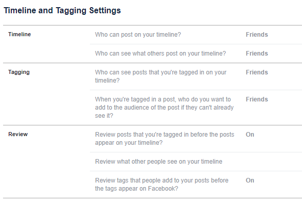 How to Stop Other People Posting on Your Facebook Timeline facebook timeline settings