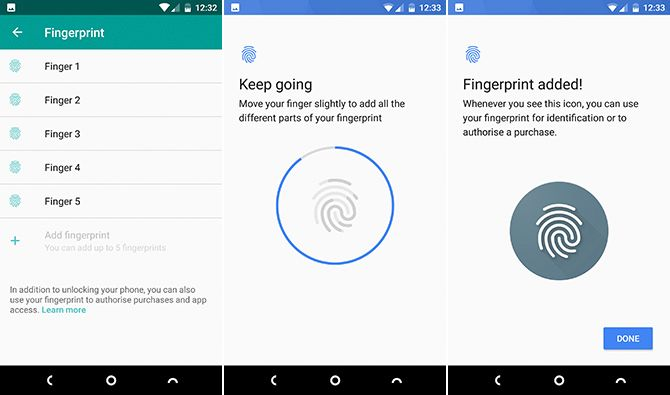 Android Fingerprint Lock Screen
