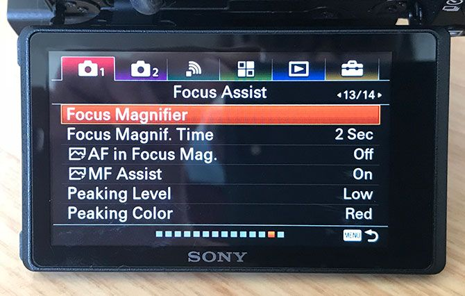 Focus Assist Controls for Sony