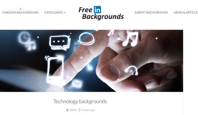 FreeLinkedInBackgrounds technology category