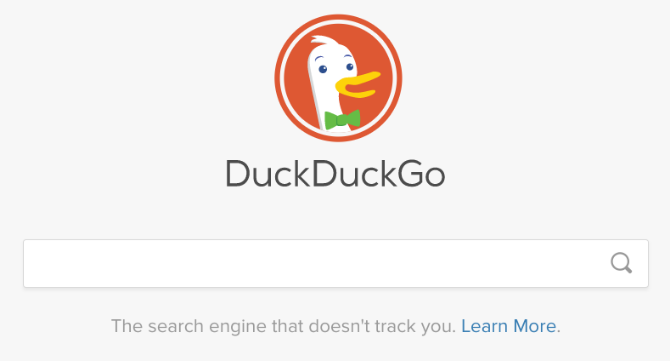 google alternatives - DuckDuckGo