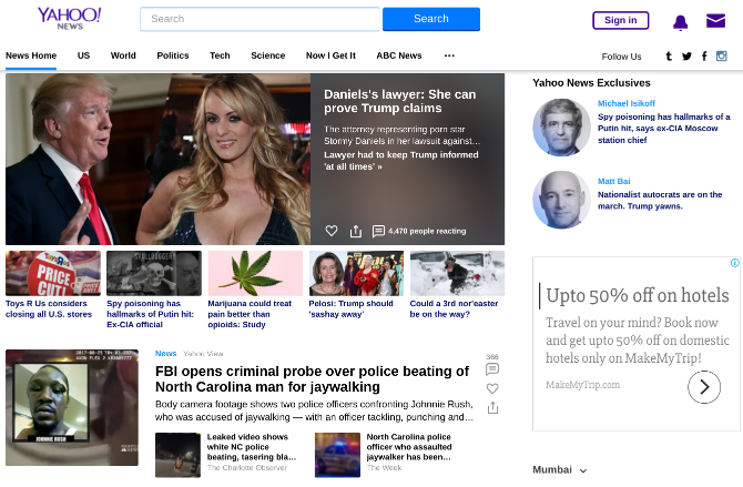 google alternatives - yahoo news