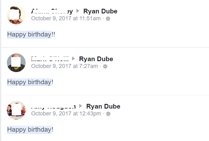 facebook birthday