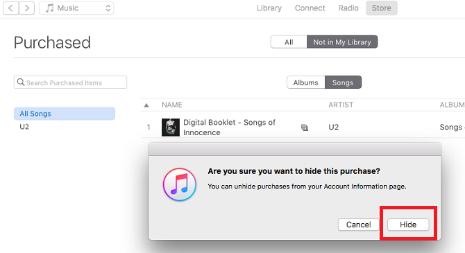 How to Hide Purchased Music in iTunes itunes hide purchase 670x365