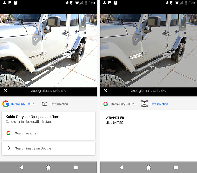 Google Lens Search Car