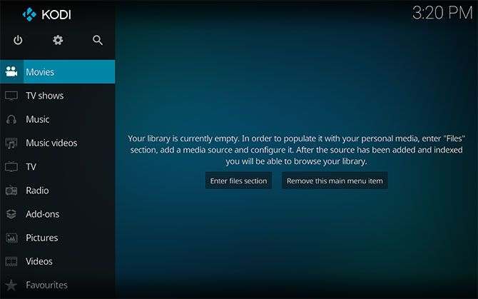 Empty Kodi Library Mac