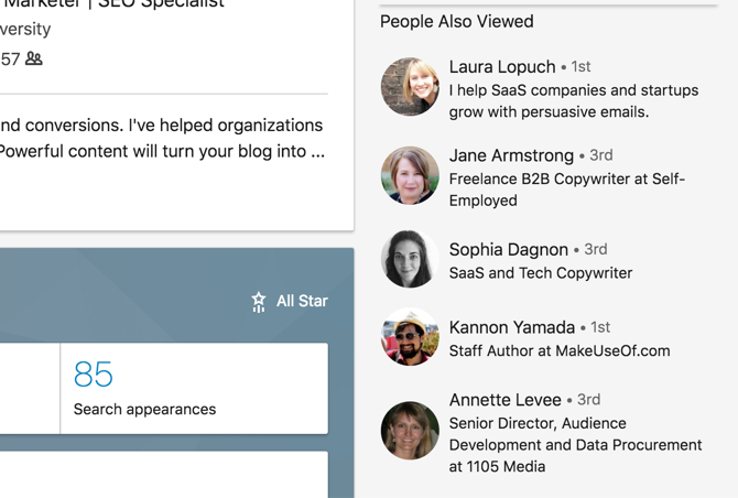 People Also Viewed section on LinkedIn Profile