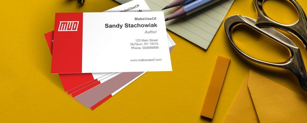 Business Cards In Microsoft Word