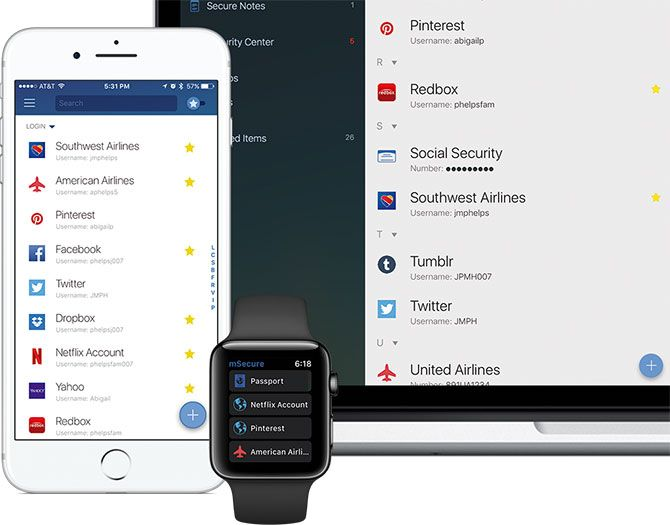 mSecure iPhone Password Manager