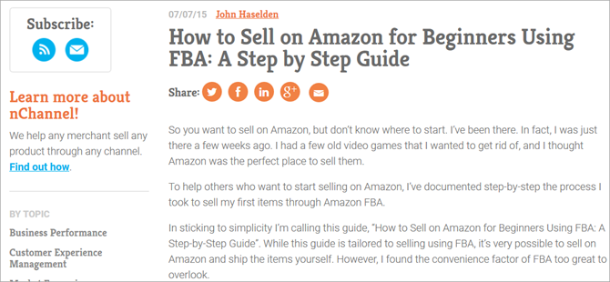 How to Sell on Amazon - nChannel