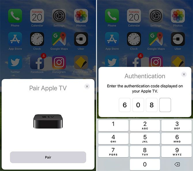 Pairing iPhone with Apple TV - Remote Control Apple TV With iPhone
