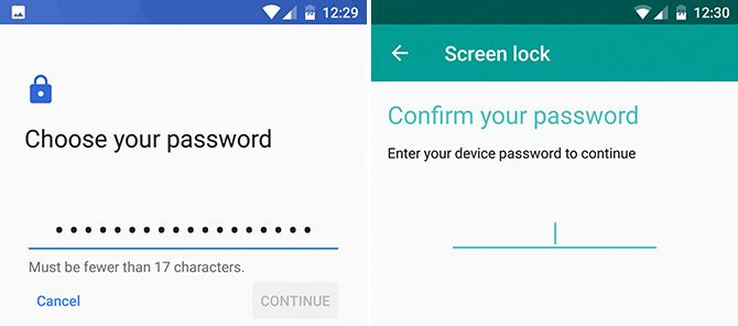 Android Password Lock Screen
