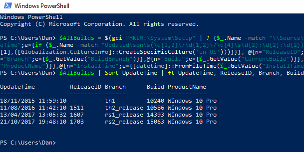 How to See Your Entire Windows Upgrade History as a List powershell windows update