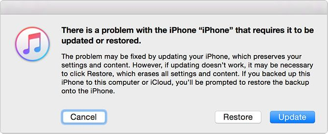 iTunes Repair iPhone