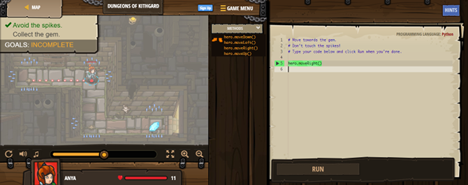 programming games - codecombat