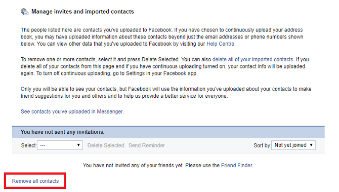 How to Upload and Delete Phone Contacts on Facebook