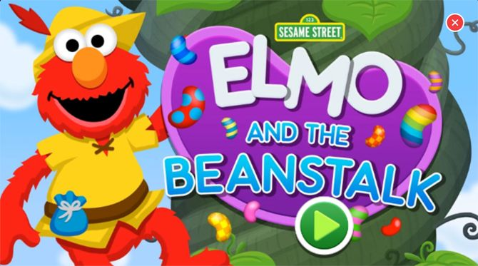 iphone education apps for kids - Elmo and the Beanstalk iOS