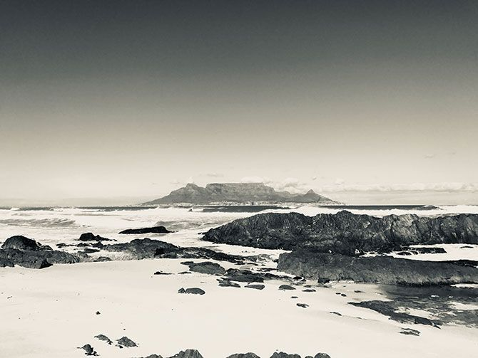 iphone photo editing - Silvertone iPhone Filter (Table Mountain, Cape Town, South Africa)