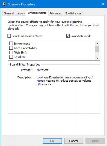 sound quality guide windows 10 - enable sound enhancements