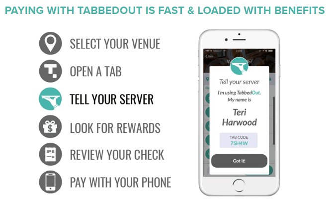 TabbedOut - mobile payment apps android