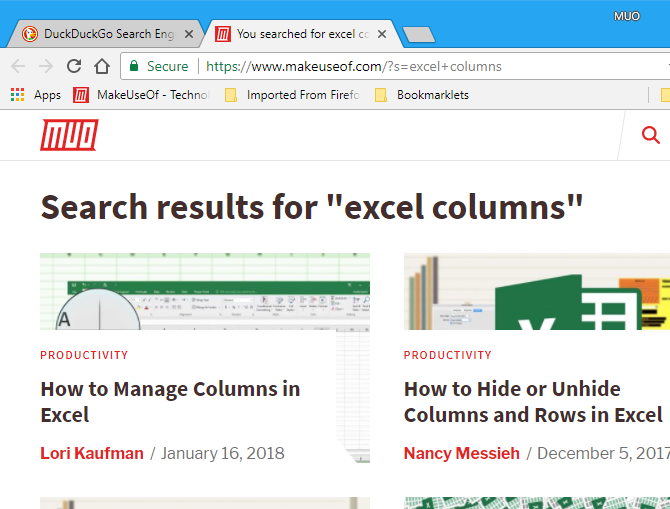 Press Alt + Enter to open search in a new tab in Chrome