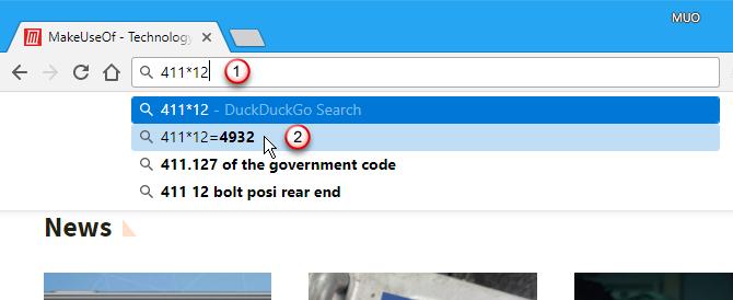 Use Chrome's address bar as a calculator