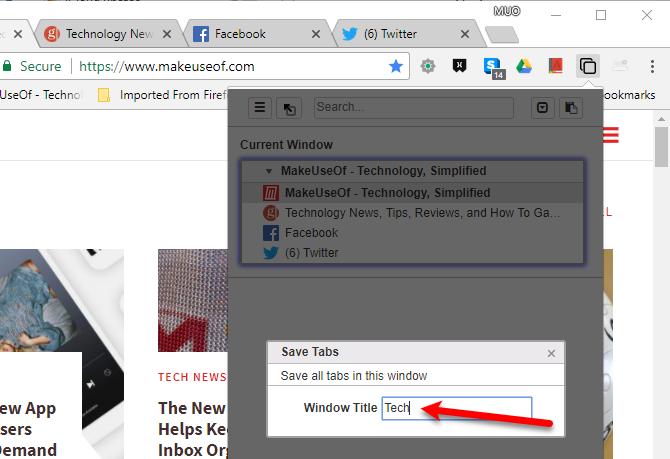 Enter Window Title for saved window in Tabli