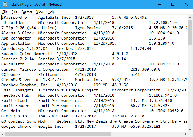 5 Ways to Generate a List of All Installed Programs in Windows
