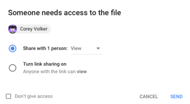 Google Drive Access Checker in G Suite