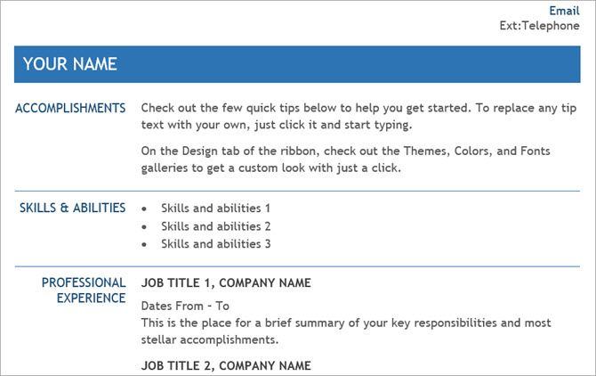 Free Resume Templates For Word ThatLl Help You Land A Job