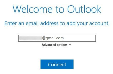 Outlook Connect to Gmail