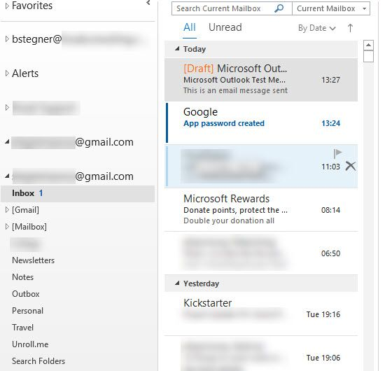 Outlook Manage Gmail