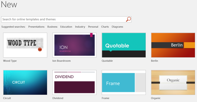 Beginner's Guide to Microsoft PowerPoint - Templates and Search