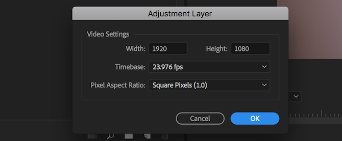 adobe premiere pro tips - adjustment layer