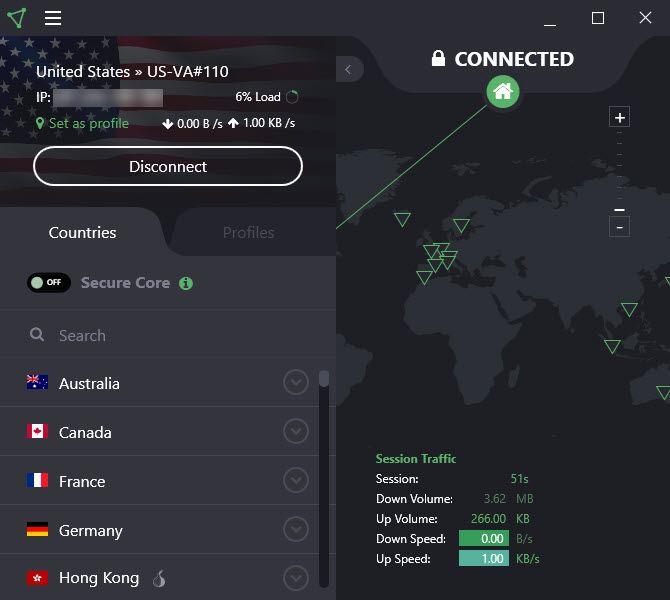 ProtonVPN - best unlimited free vpn services