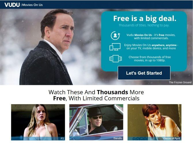 The Best Free Movie Streaming Sites - Vudu Movies on Us