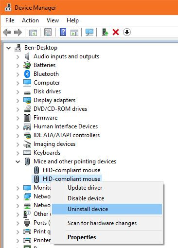 How to Fix a Double-Clicking Mouse in Windows Windows Uninstall Mouse Driver