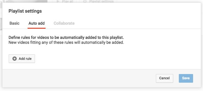 YouTube - Define Rules
