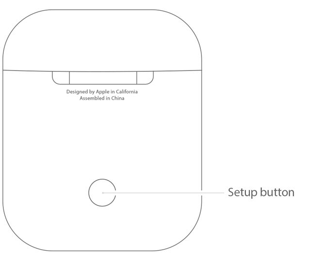 AirPods Tips - Apple AirPods Setup Button
