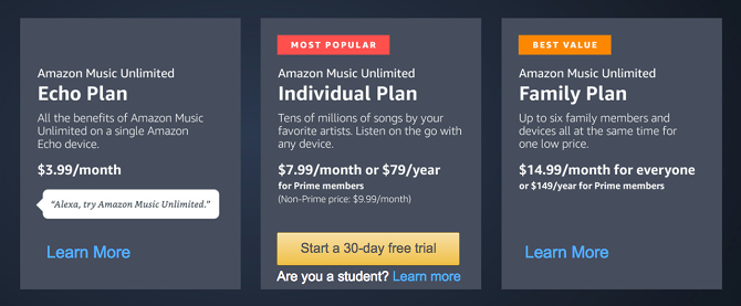 Amazon Music Unlimited tips - amazon music pricing