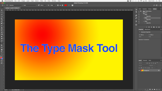 working with text in photoshop - photoshop background colors