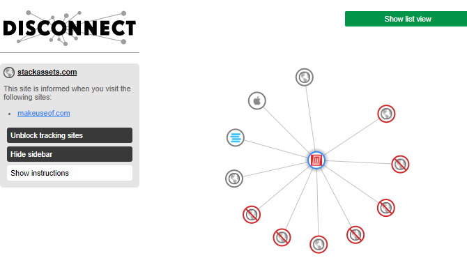 see who is tracking you online with Disconnect
