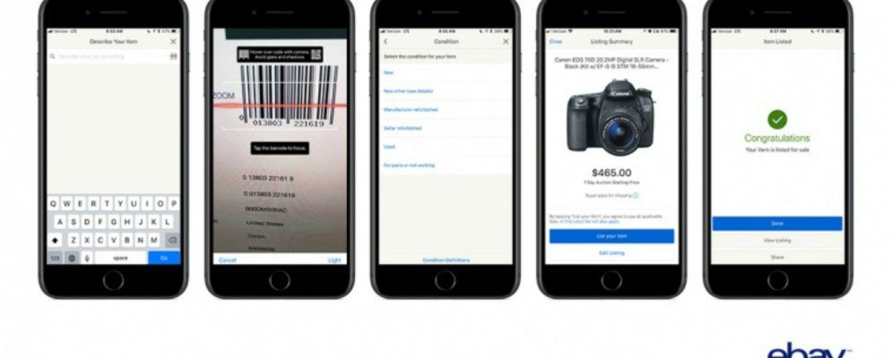 You Can Now List an Item on eBay in Seconds
