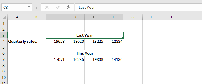 Using Merge in Excel for formatting