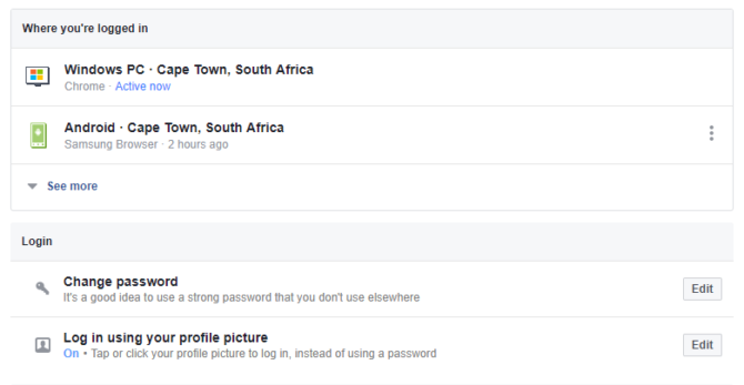 facebook where youre logged in  - were my online accounts hacked?