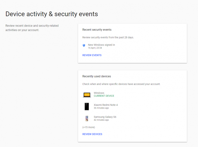 google device activity - were my online accounts hacked?