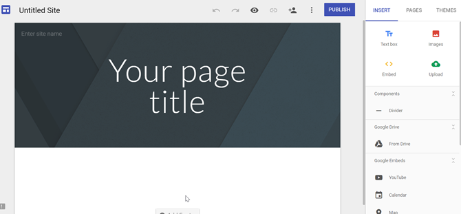 Make Your Own Free Multipurpose Web Page With Google Sites google sites2