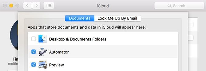 Store Desktop and Documents in iCloud